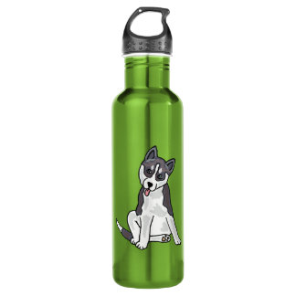 AX- Awesome Siberian Husky Water Bottle