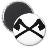 ax axe crossed icon fridge magnet