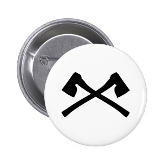 ax axe crossed icon pinback button