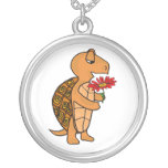 AX- Box Turtle with a Daisy Necklace