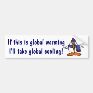 AX- Funny Global Warming Snowbird Bumper Sticker.. Bumper Sticker