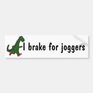 AX- I brake for joggers bumper sticker