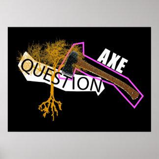 AXE A QUESTION POSTER