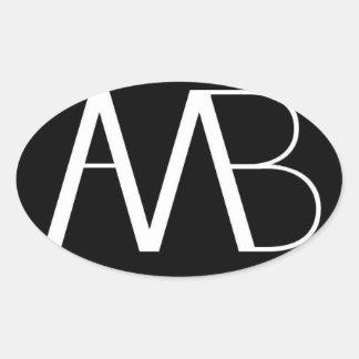 Axe Man's Bridge Black with white AMB Logo Sticker