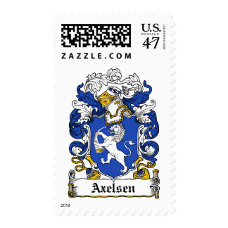 Axelsen Family Crest Postage Stamp