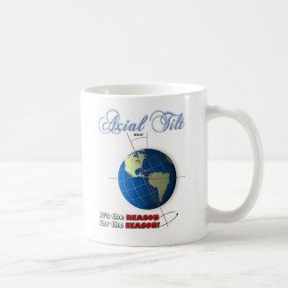Axial tilt coffee mug