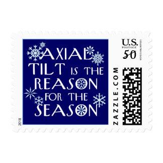 Axial Tilt custom postage