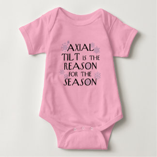 Axial Tilt for the Holidays Baby Bodysuit