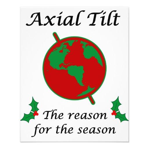 """Axial Tilt Reason for the Season 4.5"""" X 5.6"""" Flyer"""