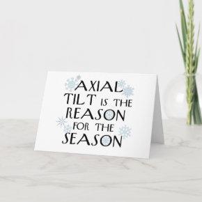 Axial Tilt-winter solstice card