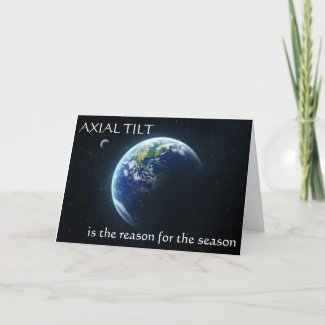 Axial Tilt Winter Solstice Card