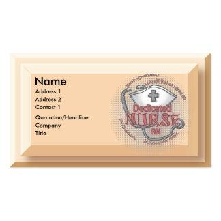 Axioma dedicado de la enfermera plantilla de tarjeta personal