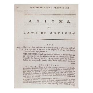 Axiomas, o leyes del movimiento, del volumen I Postales
