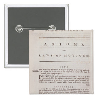 Axioms, or Laws of Motion, from Volume I 2 Inch Square Button
