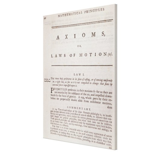 Axioms, or Laws of Motion, from Volume I Canvas Print