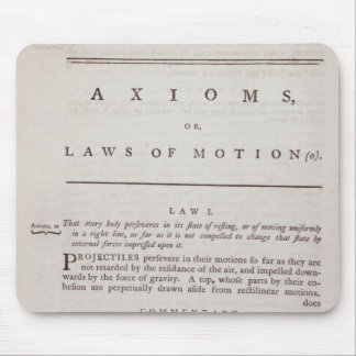 Axioms, or Laws of Motion, from Volume I Mouse Pad