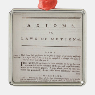 Axioms, or Laws of Motion, from Volume I Christmas Tree Ornaments