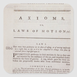 Axioms, or Laws of Motion, from Volume I Square Sticker
