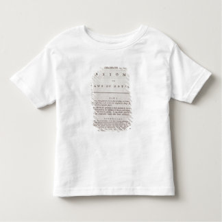 Axioms, or Laws of Motion, from Volume I Toddler T-shirt