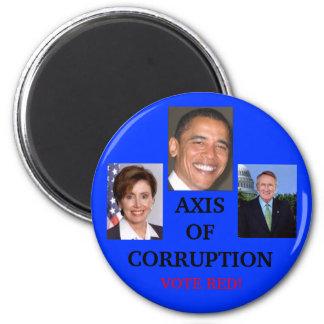 AXIS de la corrupción Imán Redondo 5 Cm