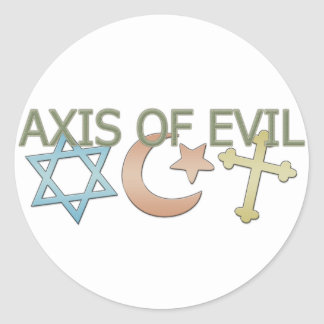 Axis of Evil Classic Round Sticker