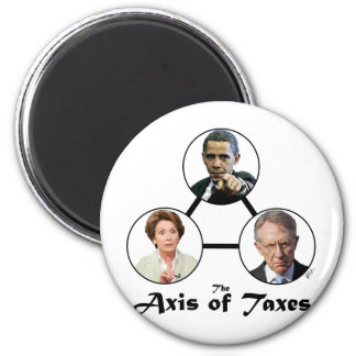 Axis of Taxes Button 2 Inch Round Magnet