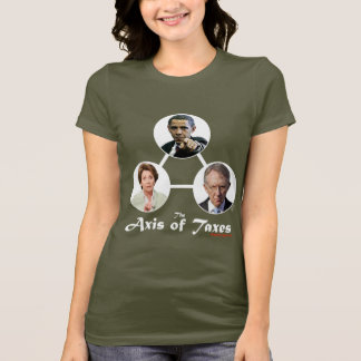 Axis of Taxes Ladies Dark T-shirt