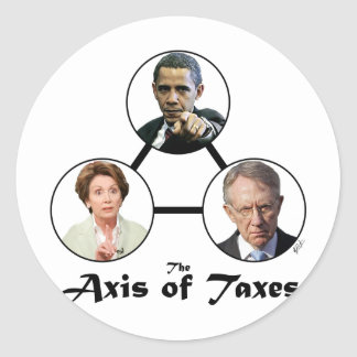 Axis of Taxes Sticker