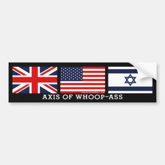 Axis of Whoop-Ass (Original Design) Bumper Sticker