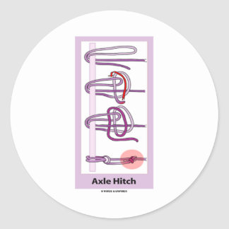 Axle Hitch Round Stickers