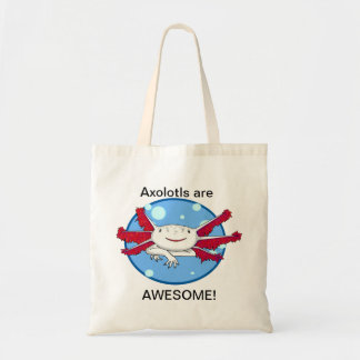 Axololts are Awesome! (white w/spots) bubbles bag