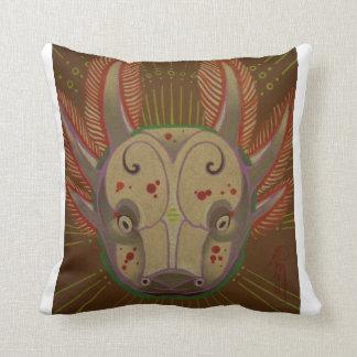 axolotl amphibian throw pillow