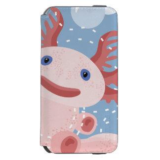 Axolotl and the Bubbles Bold Vector Design iPhone 6/6s Wallet Case