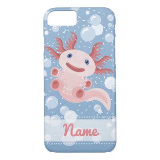 Axolotl and the Bubbles Bold Vector Design iPhone 8/7 Case