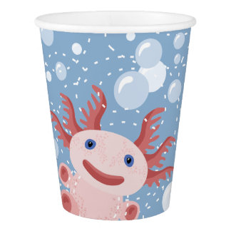 Axolotl and the Bubbles Bold Vector Design Paper Cup