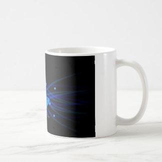 Axolotl blue with stars coffee mug