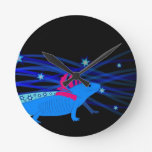 Axolotl blue with stars wallclocks