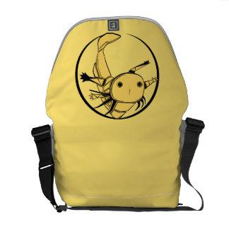 Axolotl circle bag (gold on orange)