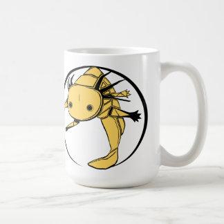Axolotl circle (gold) mug
