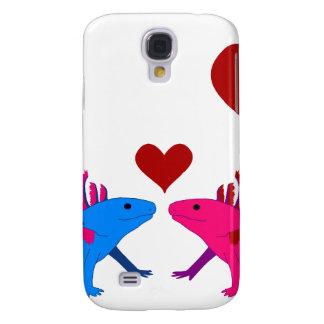 Axolotl en Love Funda Samsung S4