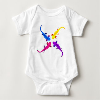 Axolotl from above baby bodysuit