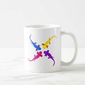Axolotl from above coffee mug
