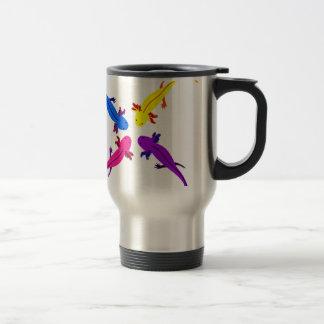 Axolotl from above travel mug
