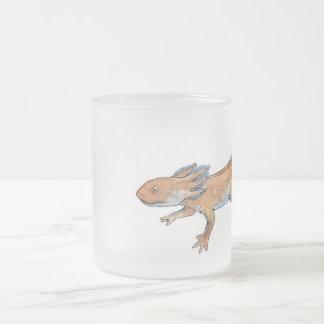 Axolotl Frosted Glass Coffee Mug