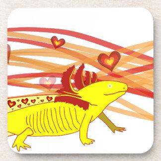 Axolotl gold Albino Drink Coasters
