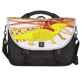 Axolotl gold Albino Laptop Messenger Bag