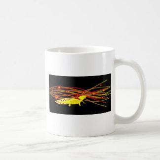 Axolotl gold Albino on black Coffee Mug
