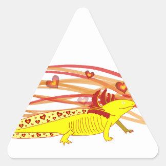 Axolotl gold Albino Triangle Sticker