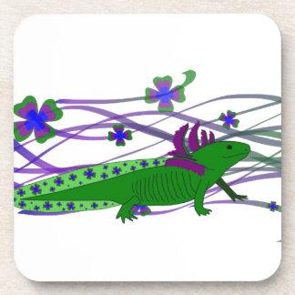 Axolotl green in the luck coasters