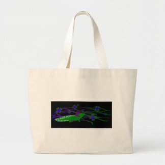 Axolotl green in the luck on black tote bags